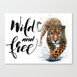 Leopard Wild and Free Canvas Print