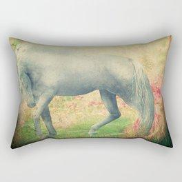 horse in a dreamy garden Rectangular Pillow