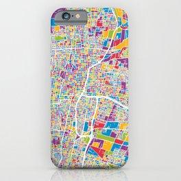 Mendoza Argentina City Street Map iPhone Case