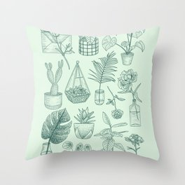 PLANTS LOVER Throw Pillow