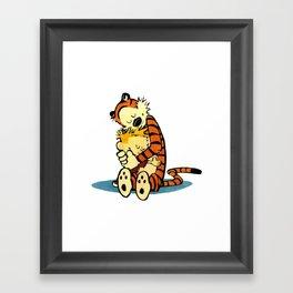 Calvin Hugs Hobbes Framed Art Print
