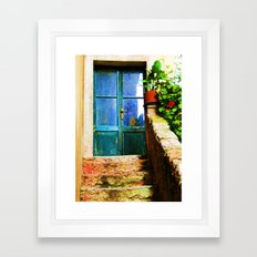 Up Stairs Apartment  Framed Art Print