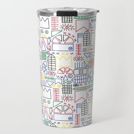 Basquiat & Volpi inspired pattern  Travel Mug