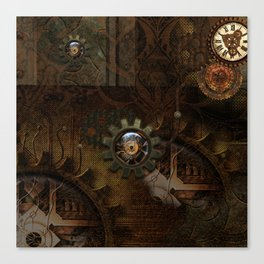 Noble steampunk design Canvas Print