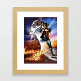 Back To The Future -Ink n Painted Framed Art Print