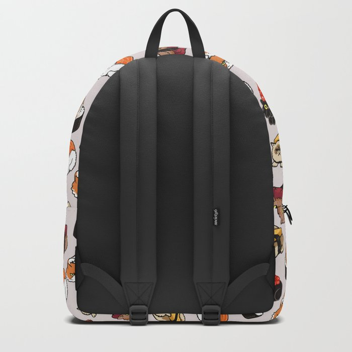 Sushi Persian Cat Backpack