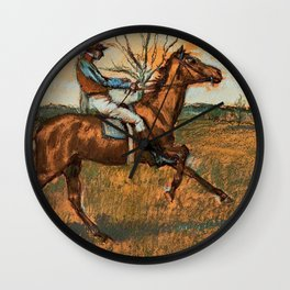 The Jockey By Edgar Degas | Reproduction | Famous French Painter Wall Clock