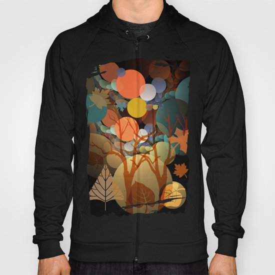 Trees and leaves in sun spots Hoody