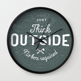 Think Outside Wall Clock