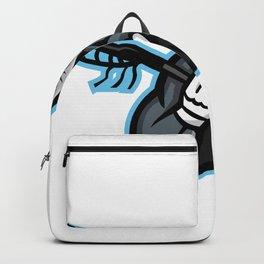 Bighorn Ram Lacrosse Mascot Backpack