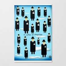 A coffee at Magritte Canvas Print