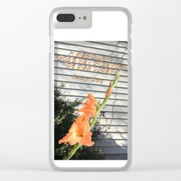 Gladiolus Quote Clear iPhone Case