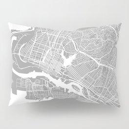 Oakland CA map grey Pillow Sham