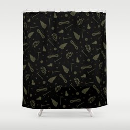 Father Wood Shower Curtain