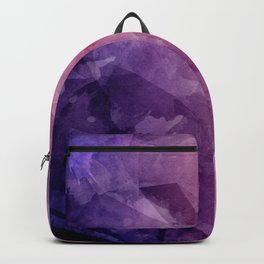 Violet - Watercolor Painting in Ultra Violet Purple and Pink Backpack