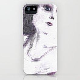 Fashion Illustration Portrait  iPhone Case