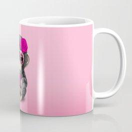 Pink Day of the Dead Sugar Skull Baby Chimp Coffee Mug