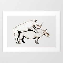Making Love Art Print