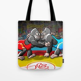 Olympic Wrestling Gorillas Tote Bag