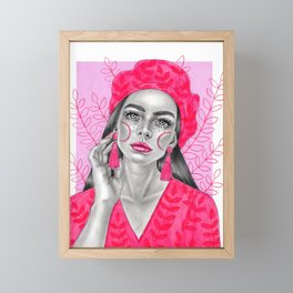 Pink lady Framed Mini Art Print