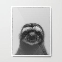 Sloth #1 (B&W) Metal Print