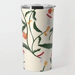 Mushrooms and Flowers Hanging Out Travel Mug