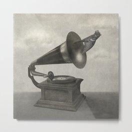 Vintage Songbird (mono)  Metal Print