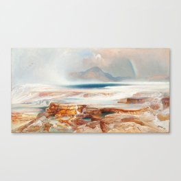 Hot Springs of the Yellowstone - Vintage Painting - Thomas Moran Canvas Print