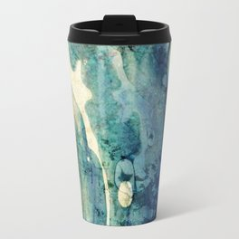 Modern Contemporary Abstract Blue Zen Design Travel Mug