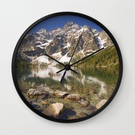 Morskie Oko lake in the Tatra Mountains, Poland Wall Clock