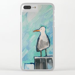Skipper Seagull Clear iPhone Case