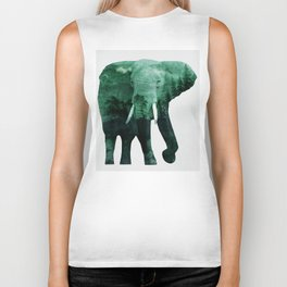 The elephant owns the forest Biker Tank