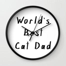 World's best cat dad Wall Clock