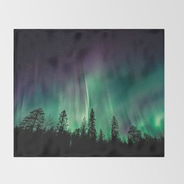 Aurora Borealis (Heavenly Northern Lights) Throw Blanket