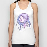 gore Tank Tops featuring Pastel Gore Girl by Savannah Horrocks