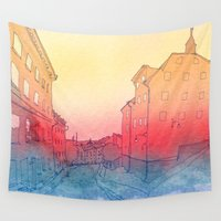 stockholm Wall Tapestries featuring Stockholm by Jonas Ericson