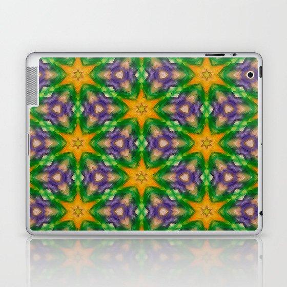 Mardi Gras stars #4509 Laptop & iPad Skin