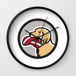 English Setter Dog Head Deflated Volleyball Circle Retro Wall Clock