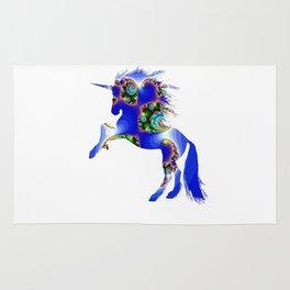 Magic Blue Unicorn Rug
