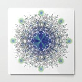 Peacock Star Metal Print