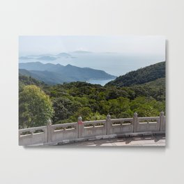 View from Tian Tan Buddha, Lantau Island, Hong Kong Metal Print