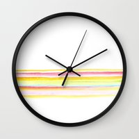 popsicle Wall Clocks featuring popsicle by Kim Codner Designs