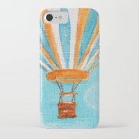hot air balloon iPhone & iPod Cases featuring Hot Air Balloon #5 by Music of the Heart