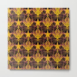 Starfire Kaleidoscope (Glowing Embers of the Sun) Metal Print