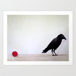 Black Raven Art Print