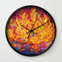 Fire and Passion - Here's to New Beginnings Wall Clock