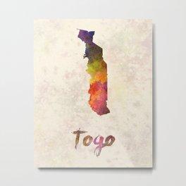 Togo in watercolor Metal Print