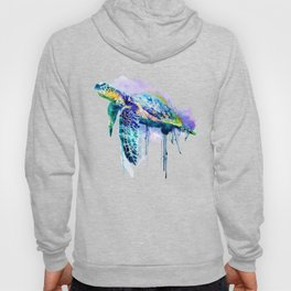 Watercolor Sea Turtle Hoody