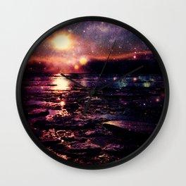 Mystic Waters Deep Jewel Tones Wall Clock