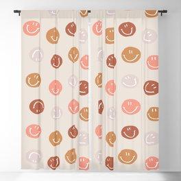 Be Happy! Pink & Orange Blackout Curtain